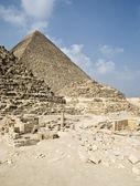 Piramidi egiziane di giza — Foto Stock