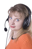 Support operator woman — Stock Photo
