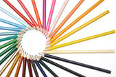 Decorative circle by color pencils — Stock Photo