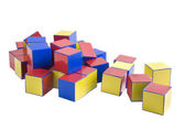Colored wooden toys for the building — Stock Photo