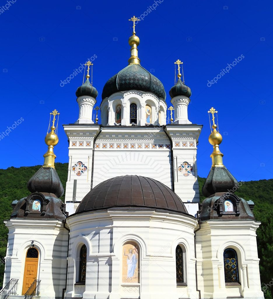 Church in the mountains of Crimea, the Crimean peninsula of Ukraine  Stock Photo #1209239