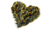 Heart of tinsel — Stock Photo