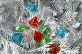 Branches silvery tree with diamonds — Stock Photo