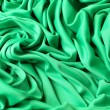 Green silk material — Stock Photo #1352132
