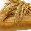 Ears of wheat and loaf of bread — Stock Photo #1460253