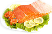 Salted salmon — Stockfoto