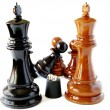Stock Photo: Chess and playing bones