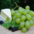 Royalty-Free Stock Photo: Cheese and grape