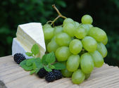 Cheese and grape — Stock Photo