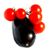 Aubergine and tomato — Stockfoto