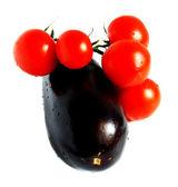 Tomate y berenjena — Foto de Stock