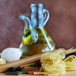 Stock Photo: Pastand olive oil