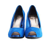 Lady blue shoes — Stock Photo