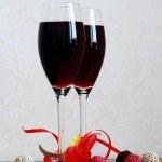 Red wine and chocolate — Stock Photo #1526833