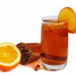 Cold tea with orange — Stock Photo