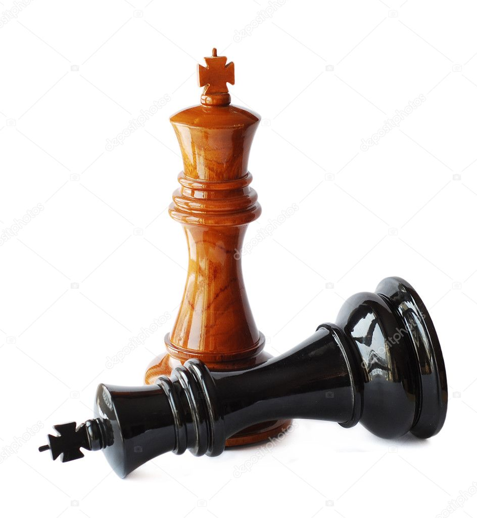 Chess on a white background  — Stock Photo #2260100