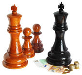 Chess isolated on white — Stock Photo
