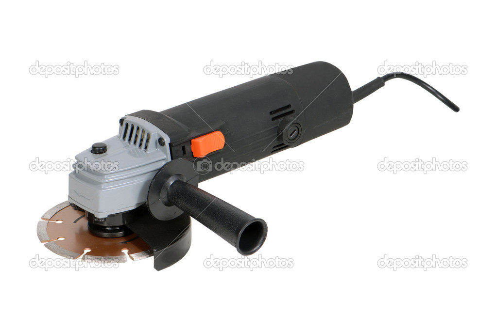 Angle grinder isolated over white background — Stock Photo #1094183