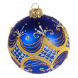 Dark blue christmas ball — Stockfoto