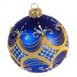 Stock Photo: Dark blue christmas ball