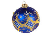Dark blue christmas ball — Stock Photo