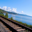 Circum-Baikal railroad - Stock Photo