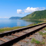 Circum-Baikal railroad — Stock Photo
