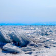 Baikal lake in winter — Stock Photo