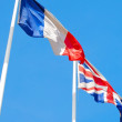 Royalty-Free Stock Photo: Flags of France and United Kingdom