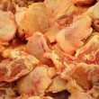 Heap of raw chicken meat — Stock Photo