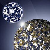 Dvě planety — Stock fotografie