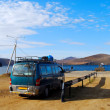 Stock Photo: Minibus wait for car ferry