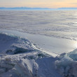frozen lake baikal — Stock Photo #1836326