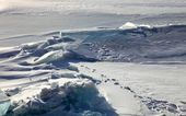 Frozen Lake Baikal — Stock Photo