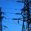 Part of the two electricity pylons — Stock Photo