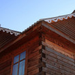 Part of the wooden house — Stock Photo