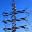 Part of the electricity pylon — Stock Photo