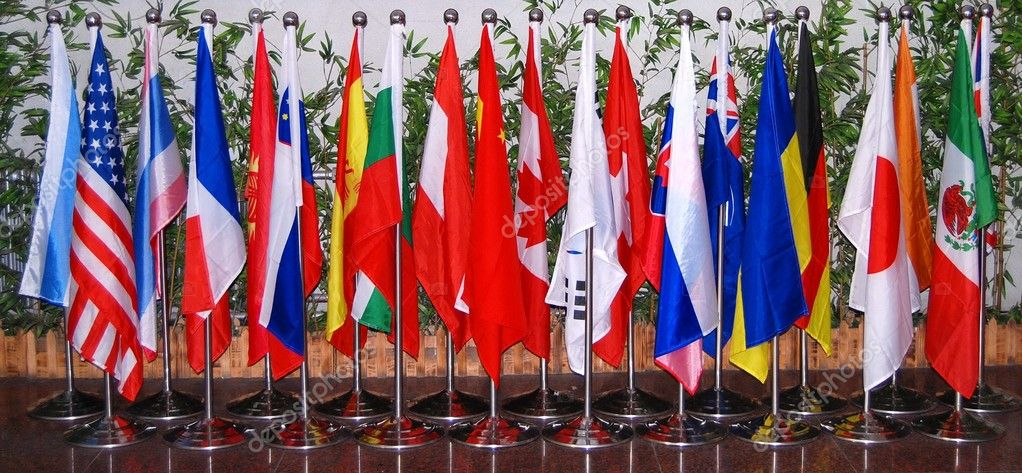 Group of flags.   Stock Photo #2368867