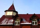 Parte da casa de madeira — Fotografia Stock
