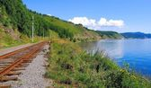 Circum Baikal railroad — Stock Photo