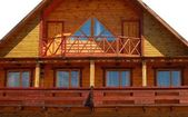 Part of wooden house. — Stock Photo