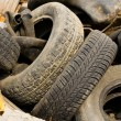 Lot of old wheels — Stock Photo #1111901