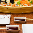 Sushi supper for two person — Stockfoto