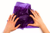 Hand crash paper — Stock Photo