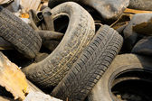 A lot of old wheels — Stock Photo