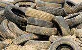 Pile of wheels — Stock Photo