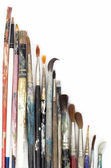 Color brushes on white background — Stock Photo