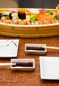 Sushi supper for two person — Stock Photo