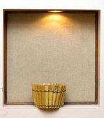 Basket under the light. background — Stock Photo