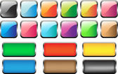 18 buttons in web2.0 style! — Stock Photo